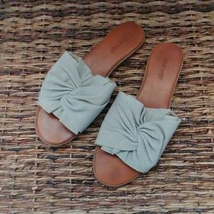 Grey Suede Nine West Slides